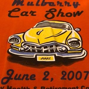 T-shirt men size xl shirt mulberry car show.